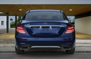 2020 Mercedes-Benz E-Class rear exterior profile