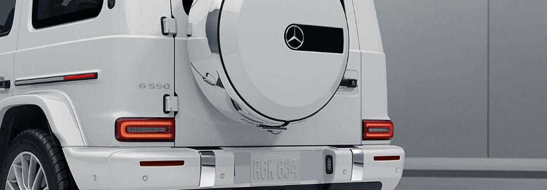 rear exterior of the 2020 Mercedes-Benz G-Class