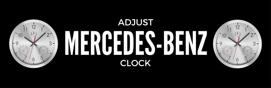 Adjust Mercedes-Benz Clock with two silver clocks on each side