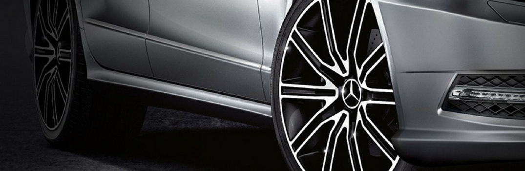 Up close picture of Mercedes-Benz Alloy Wheel