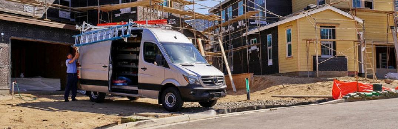 2017 Mercedes-Benz Sprinter Cargo Van on the job site