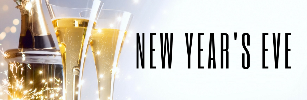 New Year's Eve on Champagne background