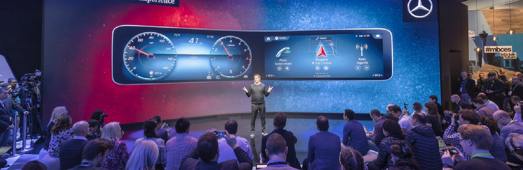 Mercedes-Benz User Experience at the Consumer Electronics Show in Las Vegas
