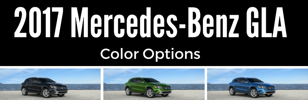 Color Choices for Mercedes-Benz GLA in Wilsonville OR