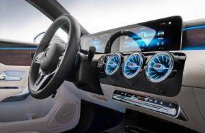 2019 MB A-Class sedan front interior