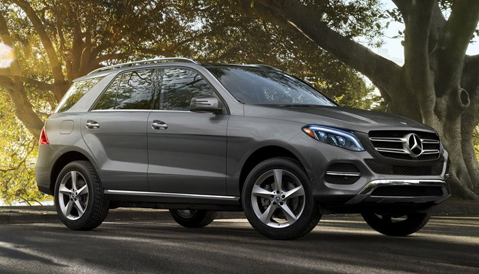 2019 Mercedes-Benz GLE parked on a forest road