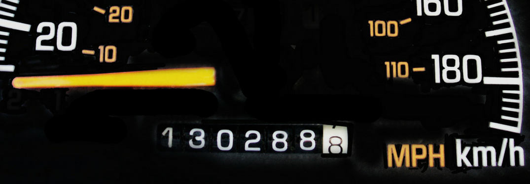 Odometer with 130,228 miles on it