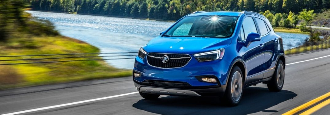 2019 Buick Encore driving on highway