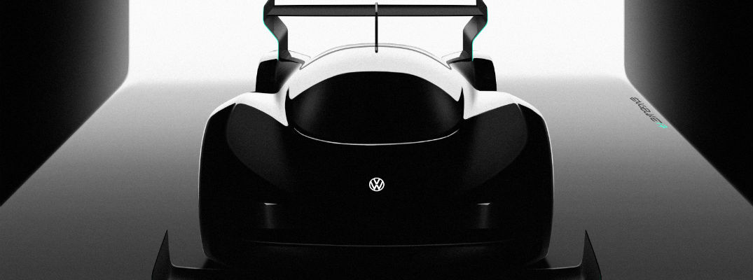 A silhouette image of the VW concept car that will be competing at Pikes Peak next summer