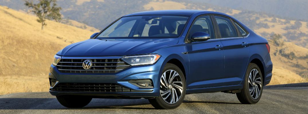 A front left quarter view of the all-new 2019 VW Jetta