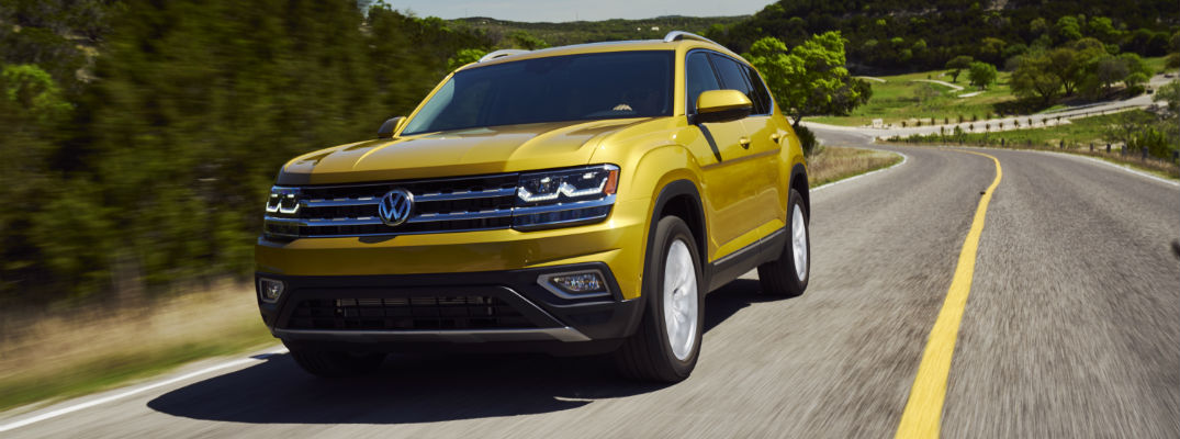 A photo of the 2018 VW Atlas that could be the basis for a new VW pickup truck.