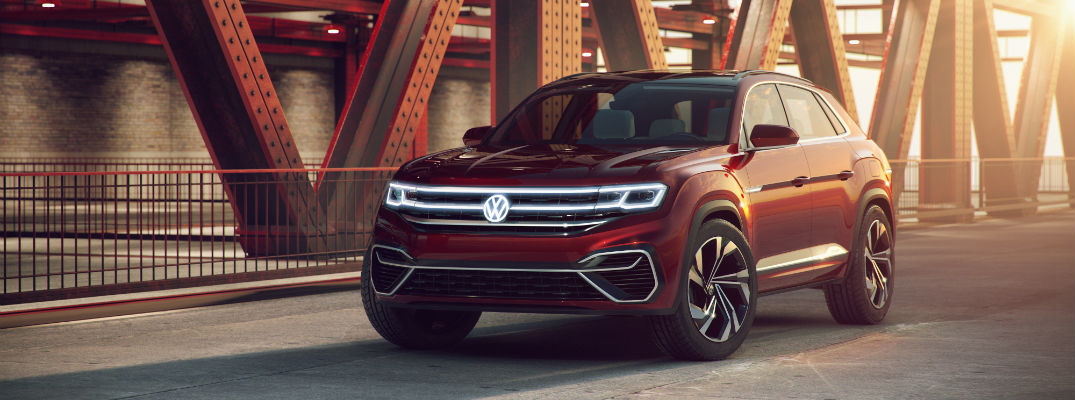 A photo of the Atlas Cross Sport concept vehicle.
