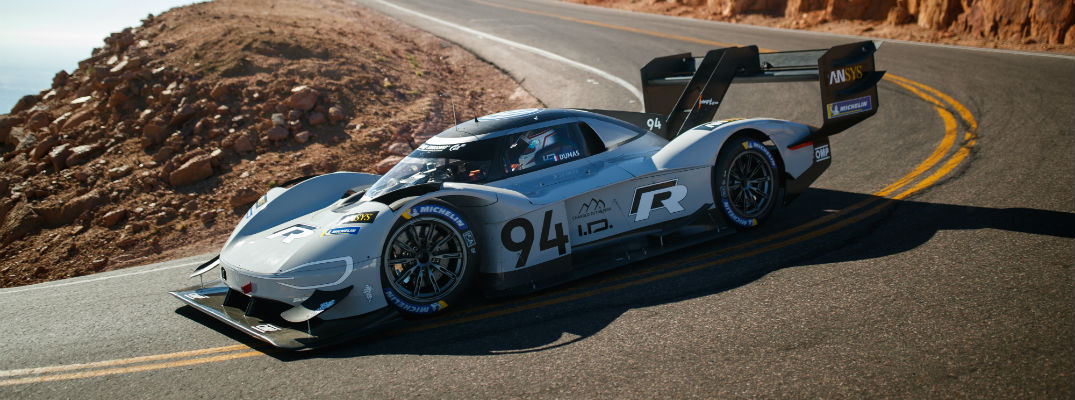 A photo of the VW ID R Pikes Peak car.