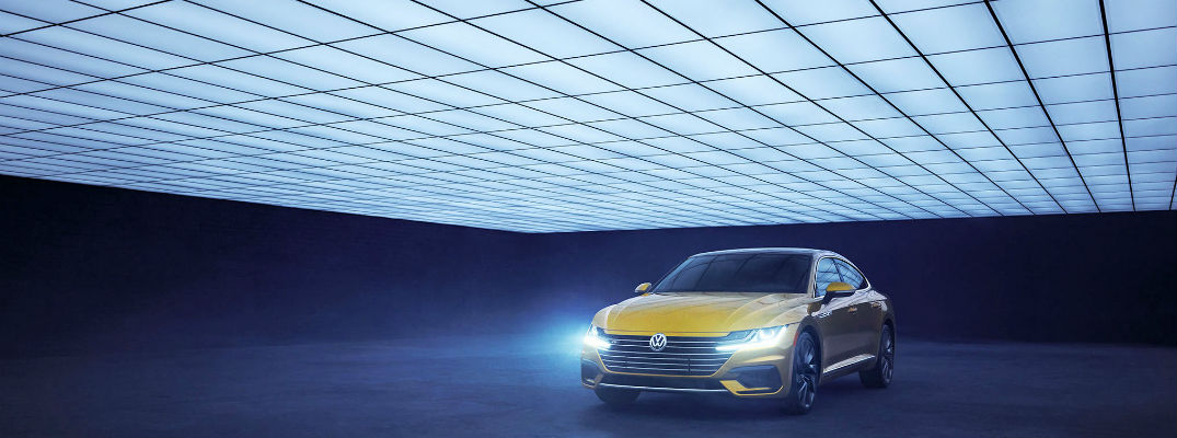 A photo of the 2019 VW Arteon in the Peteren Automotive Museum in Los Angeles.