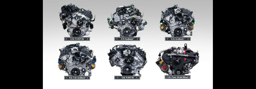 Images of all 6 Ford F-150 engines