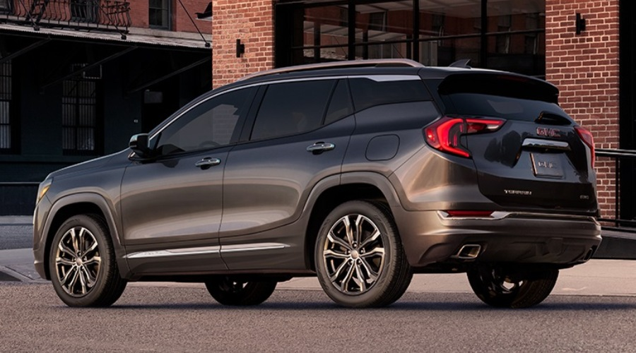 Side view of a gray 2019 GMC Terrain