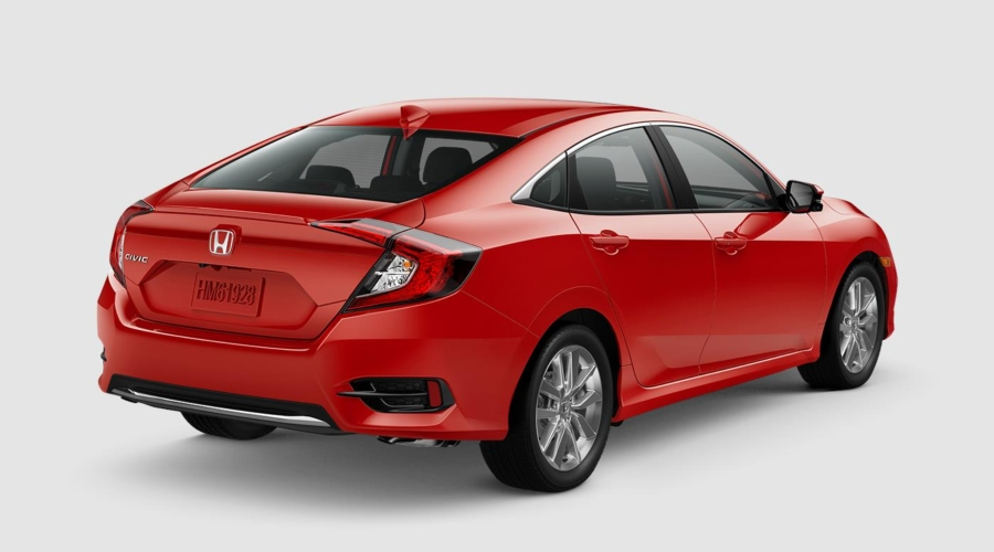 2019 Honda Civic in Rallye Red