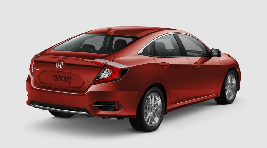 2019 Honda Civic in Molten Lava Pearl