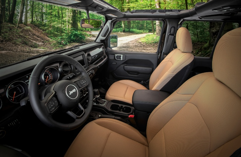2020 Jeep Wrangler Black and Tan Interior