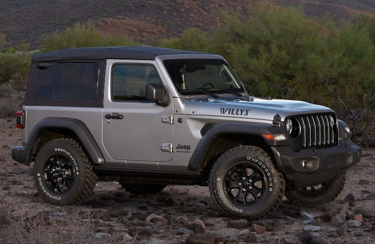 2020 Jeep Wrangler Willys Edition on rocks