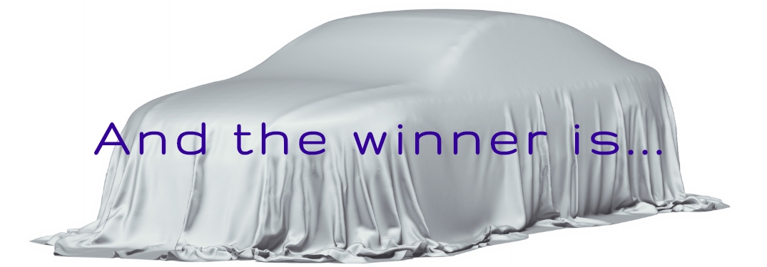 And the winner is with car covered in background