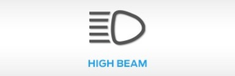 Ford High Beam Warning Light