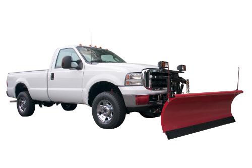 Standard cab plow truck