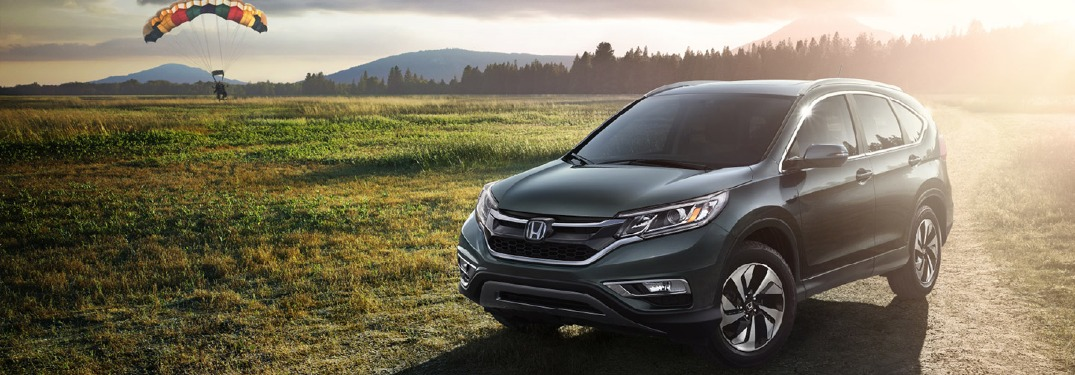 2016 Cr-V parked in field