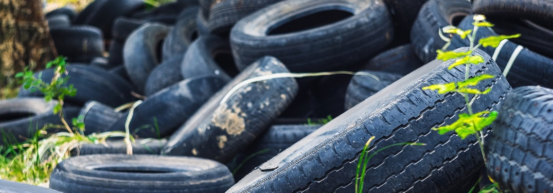 pile of tires in rural area