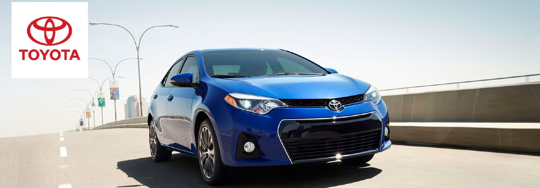 2015 Toyota Corolla driving on overpass