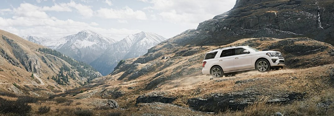 2021 Expedition driving on the mountains