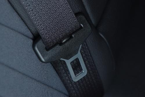 seat belt latch close up