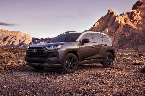 2021 RAV4 parked in desert
