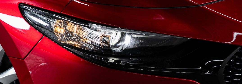 close up on adaptive headlight