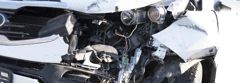 crashed car close-up