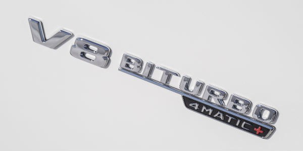 Close Up of 2018 Mercedes-Benz S-Class V-8 Biturbo 4MATIC Badge