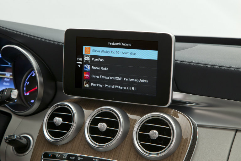 Some iPhone owners can enjoy music from their phones thanks to Apple CarPlay connectivity available on select Mercedes-Benz luxury vehicles