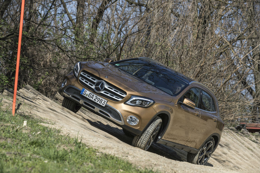 The 2018 Mercedes-Benz GLA is a crossover SUV and the CLA is a sedan