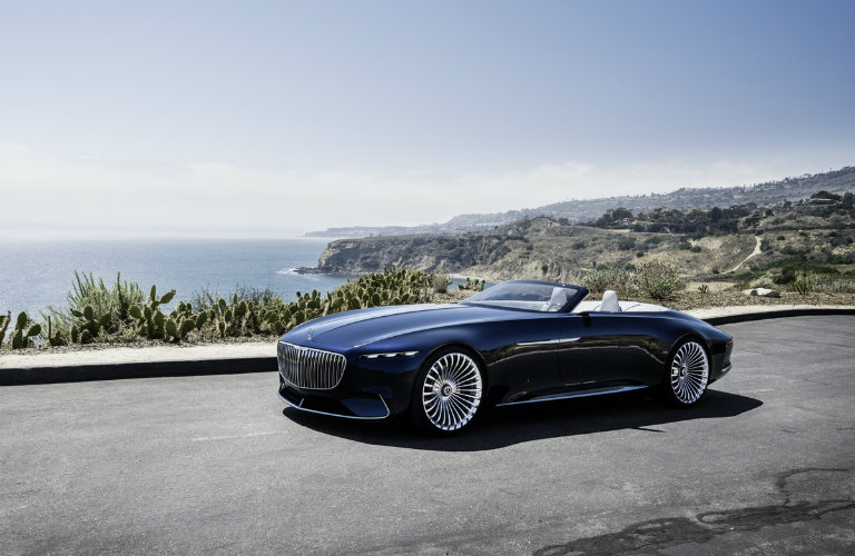black Vision Mercedes-Maybach 6 Cabriolet parked on the road
