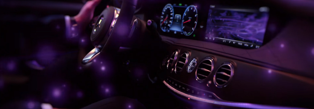 mercedes-benz s-class dashboard while using energizing comfort control