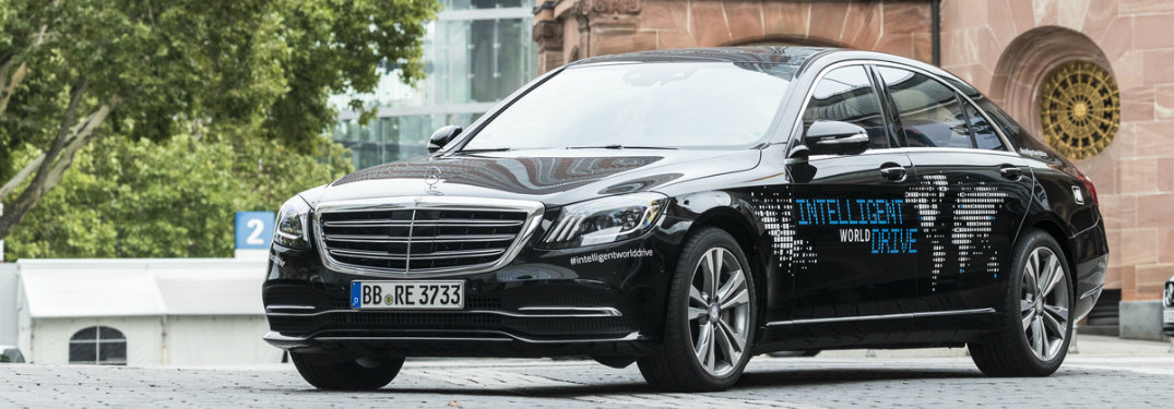 Mercedes-Benz autonomous vehicle from Europe, the Intelligent World Drive car, made from a modified S-Class