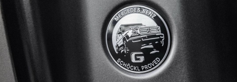 2019 Mercedes-Benz G-Class Schöckl badge on B-pillar