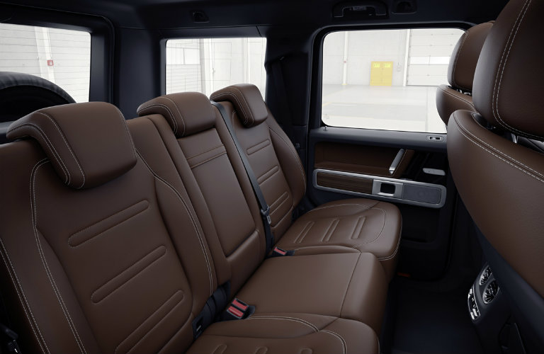 brown leather rear seats of the 2019 Mercedes-Benz G-Class