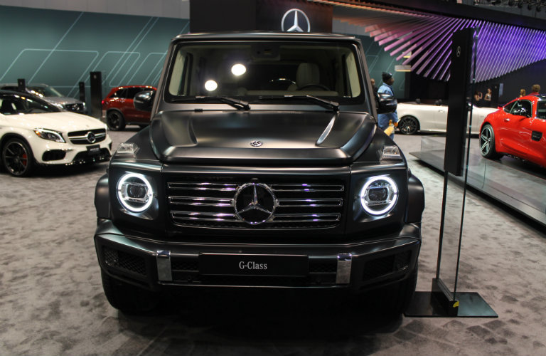 front of the 2019 Mercedes-Benz G-Class at the Chicago Auto Show 2018