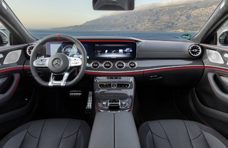 dashboard and steering wheel of the 2019 Mercedes-AMG® CLS 53