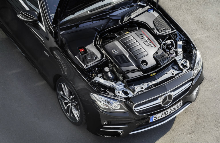 2019 Mercedes-AMG®E 53 engine in the front of the car