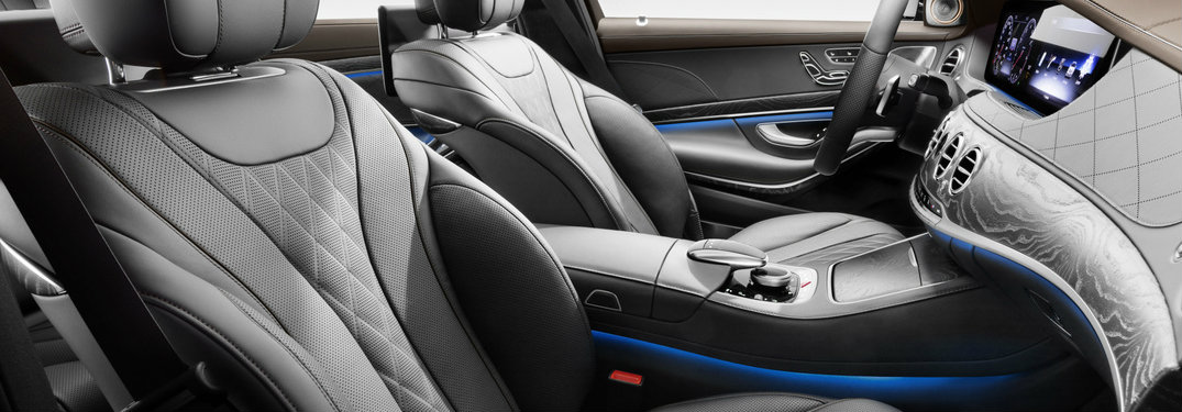 front leather seats of the 2018 Mercedes-Benz S-Class