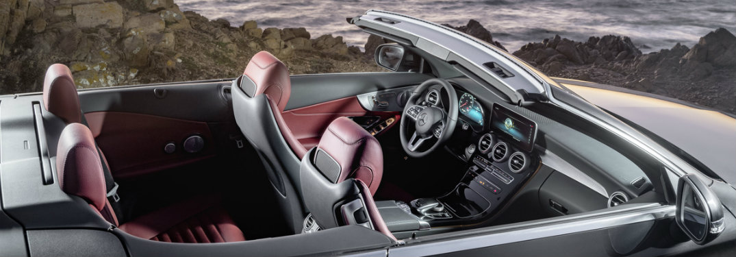 interior seats of the 2019 Mercedes-Benz C-Class Cabriolet seen from the side