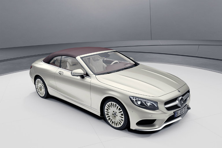 2019 Mercedes-Benz S-Class Cabriolet Exclusive Edition in a white showroom