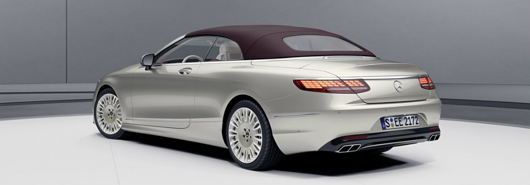 rear view of the 2019 Mercedes-Benz S-Class Cabriolet Exclusive Edition in silver